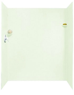 "Solid Surface Shower Wall Kit 32"" x 60"" x 72"", Bisque"