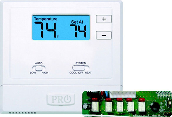 T631W-2-Thermostat Non-Programmable, 2 Heat 1 Cool Heat Pump, 1 Heat 1 Cool Conventional