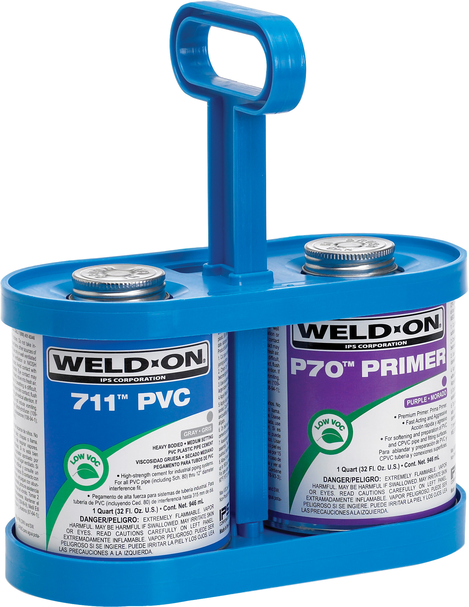 Weld-On CanTote for carrying quart & pint cement cans