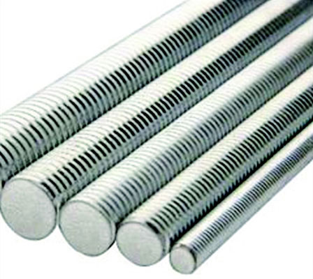"1/2"" Diameter Electro-Galvanized All-Thread Rod"
