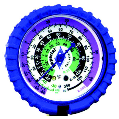 "2-1/2"" Imperial Replacement Gauge, Low Side, Color Blue"