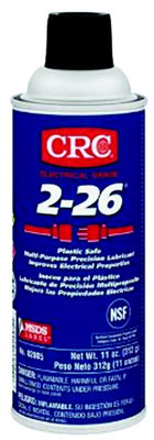2-26 Multi-Purpose Precision Lubricant, Plastic Safe Lubricant, Penetrant and Corrosion Inhibitor, Amber Liquid, 11 Oz