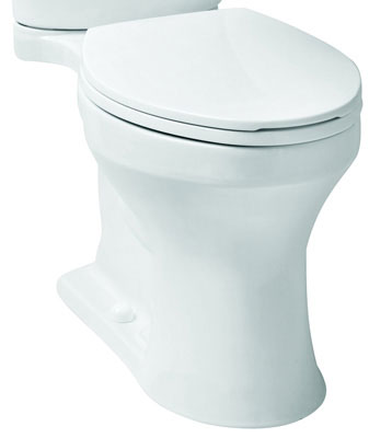 Elongated Front, SmartHeight Toilet Bowl, Biscuit Color, 1.28 gpf / 4.86 lpf Water Usage
