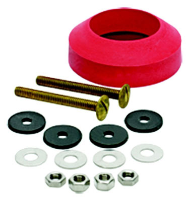 "2-3/4"" Toilet Tank-to-Bowl Solid Brass Bolts and High-Quality Rubber Gasket"