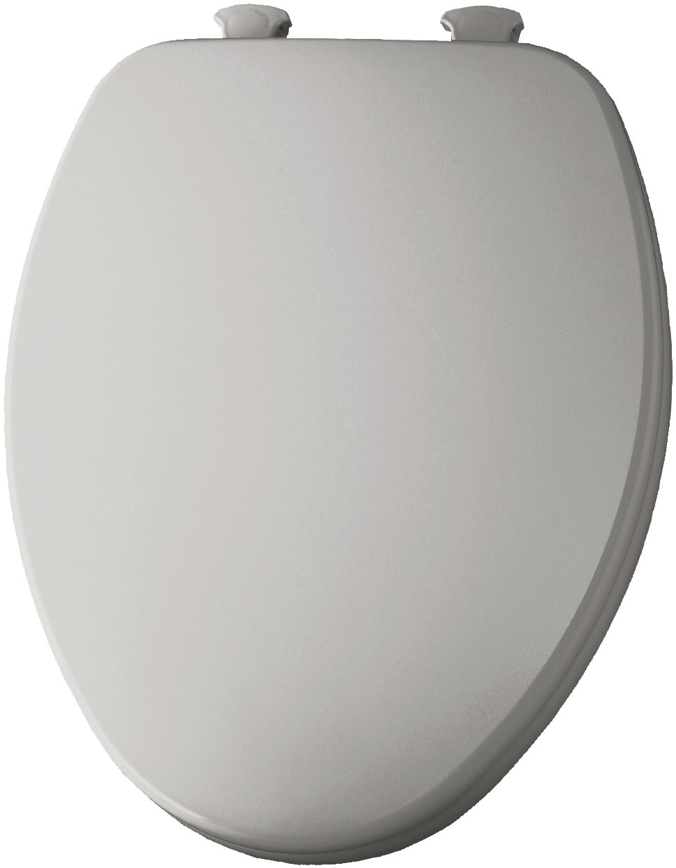 Elongated Molded Wood Toilet Seat with Easy Clean & Change Hinge Silver