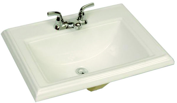 "White Drop-in Lavatory 4"" centers"