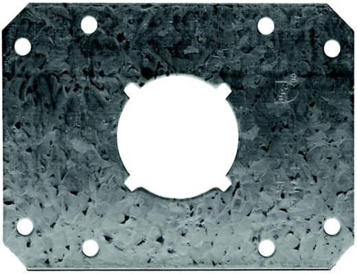 "20"" Galvanized One-Hole Flat PipeSecure Bracket"