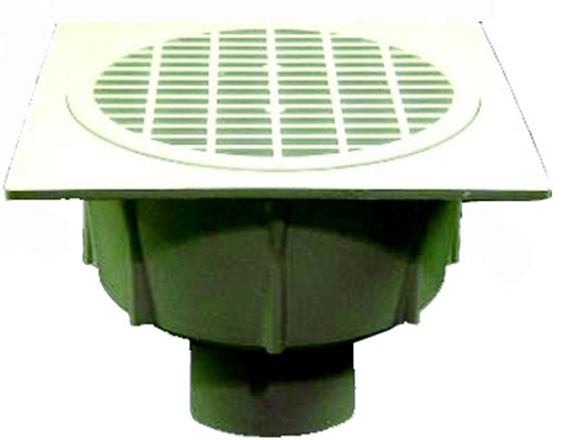 "3"" Floor Sink with Aluminum Beehive Strainer without Grate"