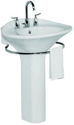 Lavatory with Single Hole Faucet Center (Basin Only), Biscuit Color