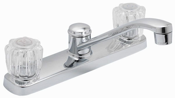 "8"" Chrome Faucet with Spray"