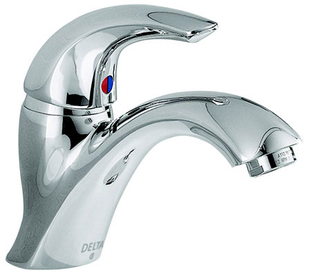 22C101 Centerset Lavatory Faucet Without Pop-Up Drain, 1.5 gpm, 4 in, 1-Handle, Chrome Plated, Commercial