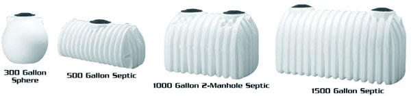 Spherical Pump Tank, 300 Gallon - 1 Manhole