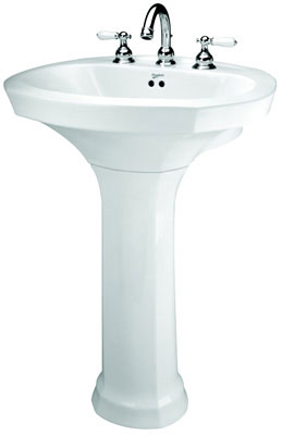 "Montclair Lavatory with 8"" Faucet Center (Basin Only), Biscuit Color"