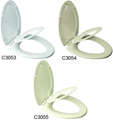 Elongated NextStep Child/Adult Toilet Seat with Whisper Close with Easy Clean & Change Hinge and STA-TITE