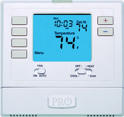 T721-Thermostat with 4 sq. inch display, Non-Programmable, 2 Heat 1 Cool