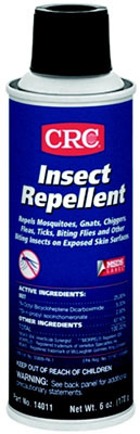 Insect Repellent, Clear Liquid, Mild Alcohol, 75°F Flashpoint, 6 Oz