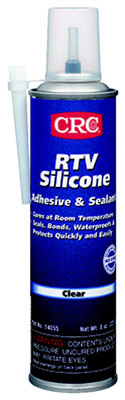 RTV Silicone Sealant - Clear, Clear Paste, Acetic Acid, 7.25 Oz