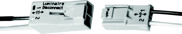 2-Conductor Pushwire Connectors For Luminaire Disconnect