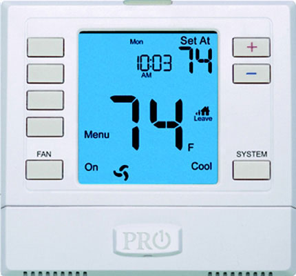 T755 Thermostat 5/1/1 Programmable, Up to 2 Heat 2 Cool Conventional, Up to 3 Heat 2 Cool Heat Pump