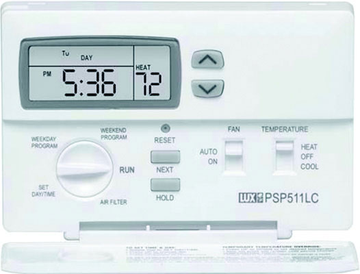 1 Stage Heat/ 1 Stage Cool, 5/2 Programmable Thermostat