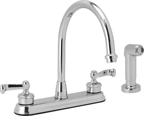 Satin Nickel Hi-rise Sink Faucet With Spray