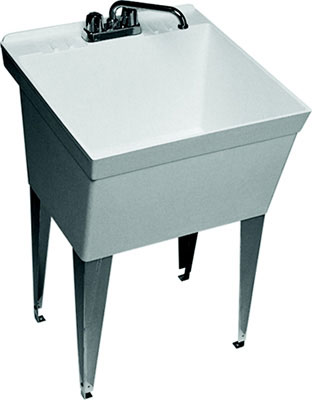 Molded Stone Laundry Tub With Legs