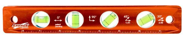 "Savage 9"" Magnetic Torpedo Level, Machined Billet Aluminum Construction"