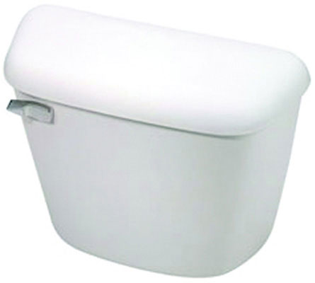 Toilet Tank with Flush Valve, Ballcock And Chrome-Plated Plastic Right Hand Trip Lever, White Color