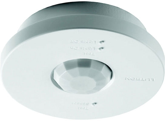 Wireless Ceiling Mount Sensor, 434 MHz Occupancy/Vacancy Sensor, Temp. 32°F to 104°F, 3 V, 14 µA Nominal, White