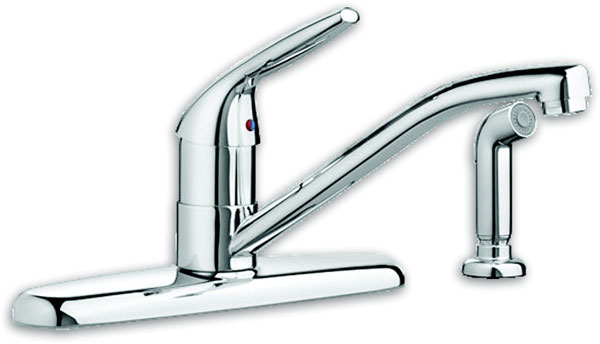 Colony Choice 1-Handle Kitchen Faucet with Side Spray, Stainless Steel (PVD)