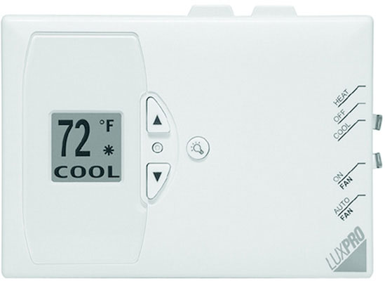 1 or 2 Heat/1 Cool Digital Non-Programmable Heat Pump Thermostat