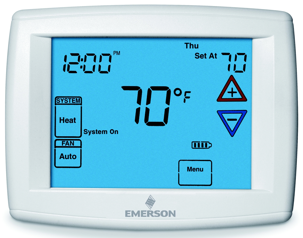 White Rodgers Products Thermostat Wiring Diagram 1f80 361 Emerson Big Blue 12 Display Touchscreen Programmable Fan Remote Sensor Digital Range 45 99 F