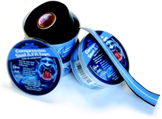 "1"" x 12-foot Roll - Blue Monster Compression Seal Tape"