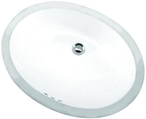 "19-3/4"" x 16"" Oval, Under Counter Lavatory, Biscuit Color"