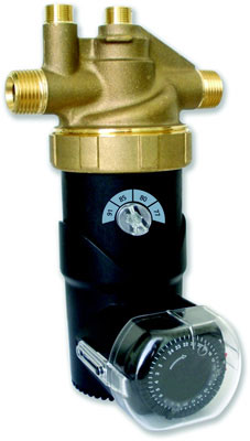"Lead Free Brass Autocirc 1/2"" Adjustable ""ON"" Thermostat with Timer"