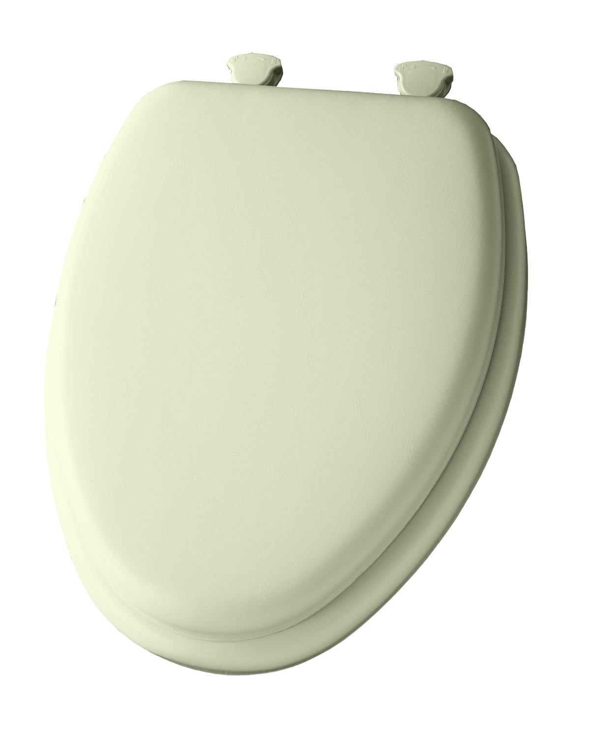 Elongated Cushioned Vinyl Soft Toilet Seat with Easy Clean & Change Hinge Bone