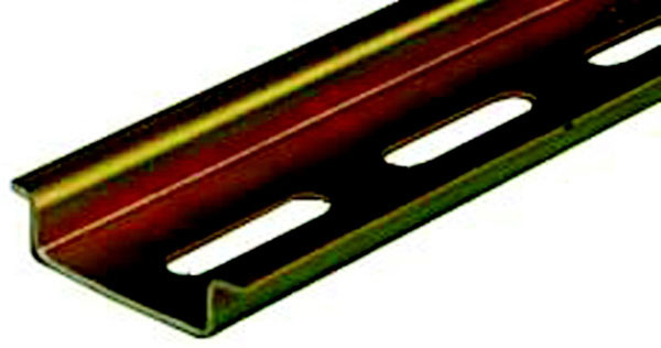 "0.295"" x 39.37"" x 1.387"" Slotted Steel Carrier Rail"
