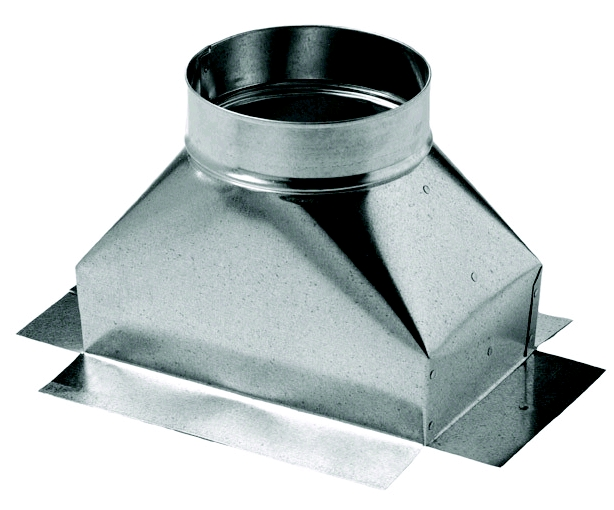 Southwark 51F141412 Straight Ceiling Box With Flange, 14 in L x 14 in W x 12 in D, Steel, Hot Dipped Galvanized, Domestic