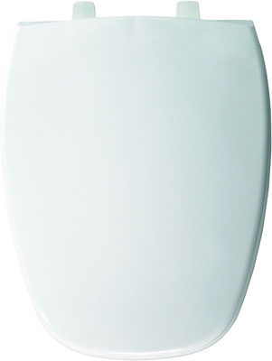 Elongated Plastic Toilet Seat in White