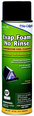 Evap Foam No Rinse Cleaner for Cooling Coils, 18 Ounce Can