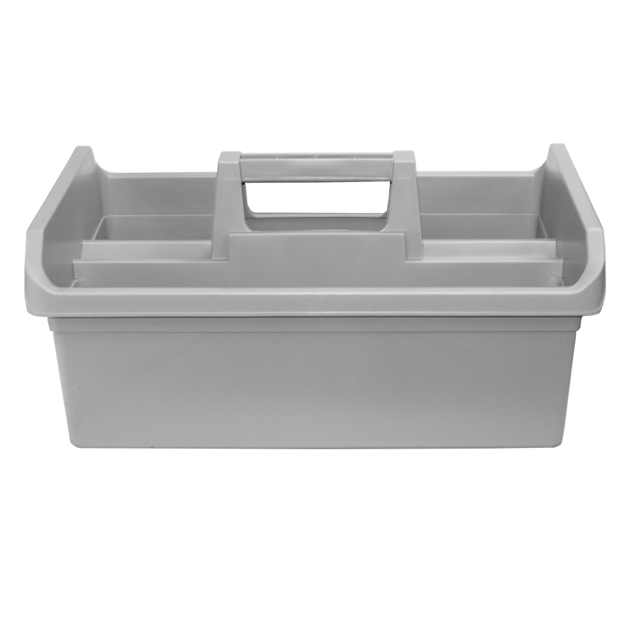 "Gray Tote Tray - 18"" x 13 1/2"" w/Handle"