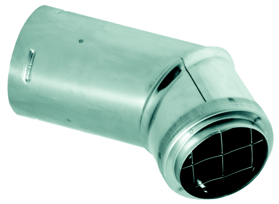 "3"" PelletVent Pro Horizontal Cap For Horizontal Terminations Only"