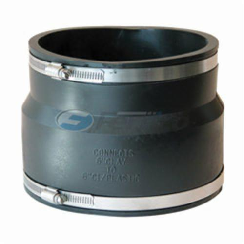 Products | Flexible Pipe Coupling, 6 in, Clay x PVC, PVC