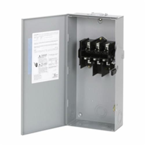 DG323URB General Duty Non-Fusible Safety Switch, 240 V, 15 hp at 240 VAC 1 Phase, 30 hp at 240 VAC 3 Phase