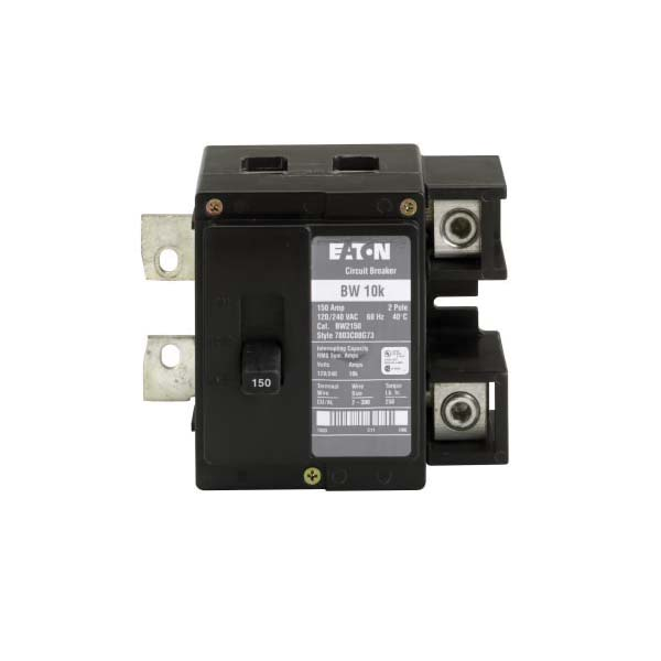 BW2150 Type BW Thermal Magnetic Circuit Breaker, 120/240 VAC, 150 A, 10 kA Interrupt, 2 Poles