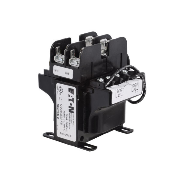 C0050E2BFB Type MTE Industrial Control Transformer, 240/480 VAC Primary, 24 VAC Secondary, 50 VA, 50/60 Hz