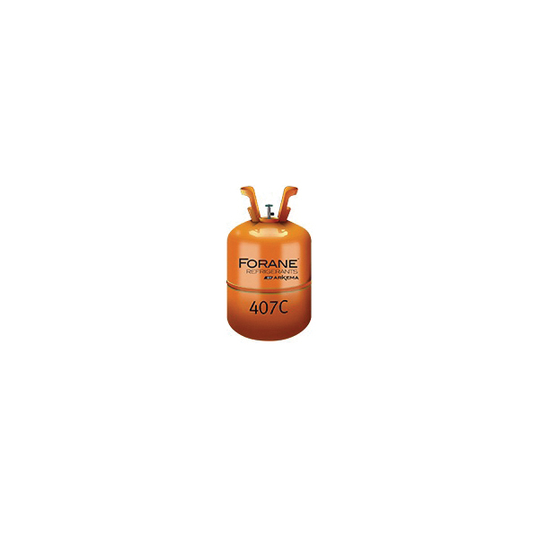 407C HFC Refrigerant, R-407C, 25 lb Cylinder Brown Container, Faint, Ether-Like