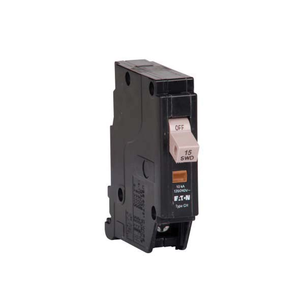 CHF115 Standard Type CHF Circuit Breaker With Mechanical Trip Flag, 120/240 VAC, 15 A, 10 kA Interrupt