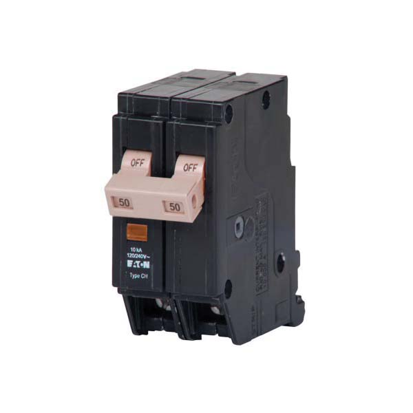 CHF250 Standard Type CHF Circuit Breaker With Mechanical Trip Flag, 120/240 VAC, 50 A, 10 kA Interrupt