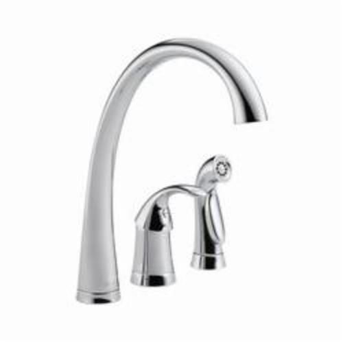 4380-DST Pilar Kitchen Faucet, 1.8 gpm, 4 in Center, Chrome Plated, 1 Handles, Domestic, Commercial